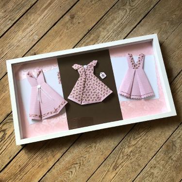 Trio de robe en rose gourmand