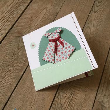 Carte pomme d'amour - Carte double avec un espace pour glisser un billet doux ! 9 euros avec enveloppe