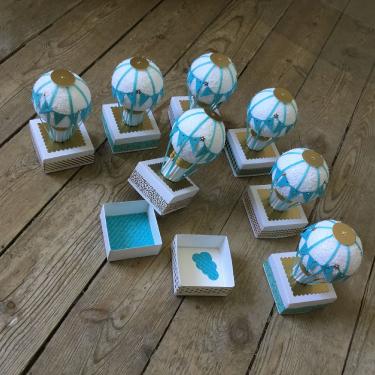 Boîte à dragées thème montgolfières