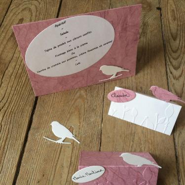 Décoration de table, menu, et marque noms